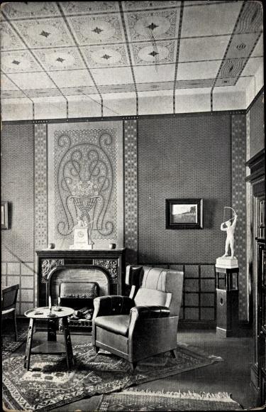 Ak Hamburg Wohnzimmer Ausstellung Bemalter Wohnraume 1911 Nr