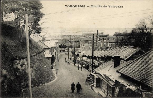 Ak Yokohama Präf. Kanagawa Japan, Montee de Yatosaka