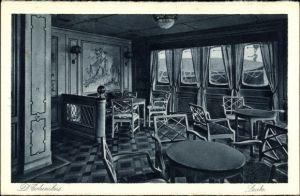 Ak Dampfer Columbus, Passagierschiff, Norddeutscher Lloyd, Laube