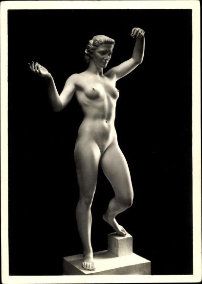 Ak Plastik von Arno Breker, Anmut, Frauenakt