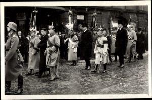 Foto Ak Dresden, Begräbnis König Friedrich August III. von Sachsen 1932?, Kronprinz Rupprecht