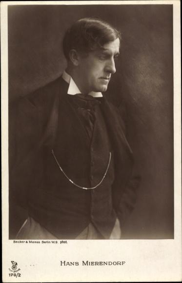 Ak Schauspieler Hans Mierendorf, Portrait, RPH 178/2