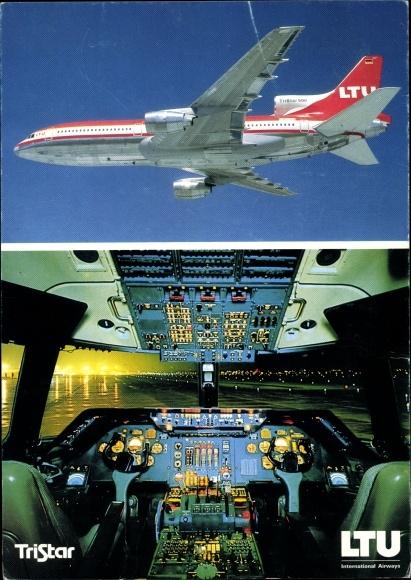Ak Lockheed Tristar L-1011-500, LTU, Cockpit, Passagierflugzeug