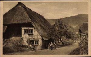 Ak Niefern Öschelbronn im Enzkreis Baden Württemberg, Schwarzwälder Bauernhaus, Kirnbachtal