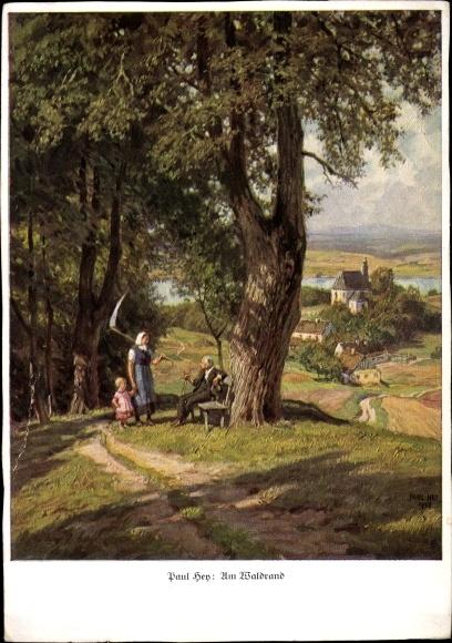 Künstler Ak Hey, Paul, Am Waldrand, Ackermann Reihe 421 Nr 4125