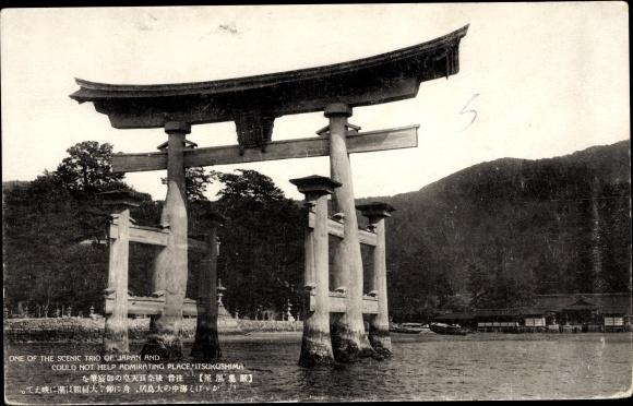 Ak Miyajima Präf. Hiroshima Japan, Itsukushima Schrein