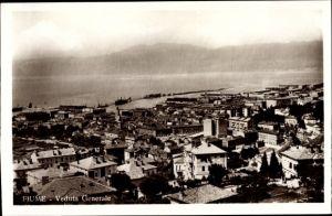 Ak Rijeka Fiume Kroatien, Veduta generale, porto, Quarnaro