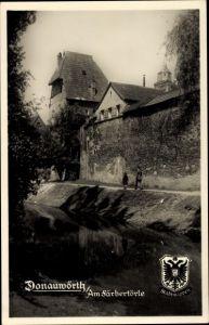 Wappen Ak Donauwörth in Schwaben, Am Färbertörle