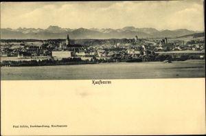 Ak Kaufbeuren am Wertach in Schwaben, Panorama vom Ort