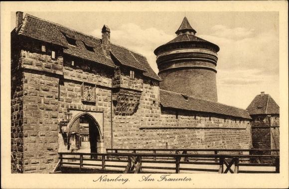 Ak Nürnberg in Mittelfranken Bayern, Am Frauentor
