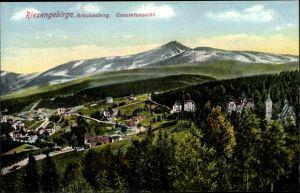 Ak Brückenberg b. Krummhübel Riesengebirge Schlesien, Gesamtansicht