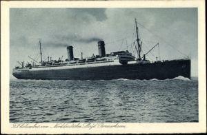 Ak Dampfer Columbus, Passagierschiff, Norddeutscher Lloyd