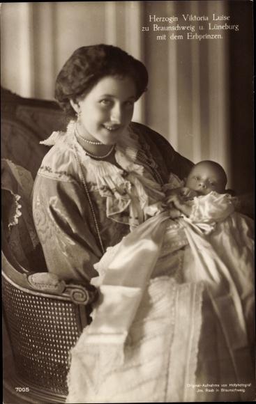 Ak Prinzessin Victoria Luise von Preußen, Herzogin zu Braunschweig und Lüneburg, Erbprinz