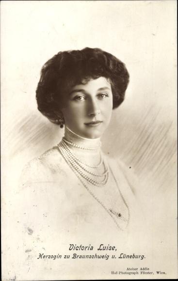 Ak Prinzessin Victoria Luise von Preußen, Herzogin zu Braunschweig und Lüneburg, Portrait