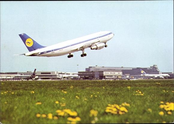 Ak Airbus A 300, Lufthansa, Flughafen Frankfurt Main