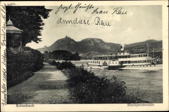 Ak Remagen im Kreis Ahrweiler, Rolandseck, Rheinpromenade