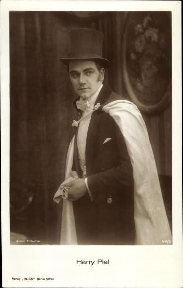 Ak Schauspieler Harry Piel, Portrait, Zylinder, Ross Verlag 414 2