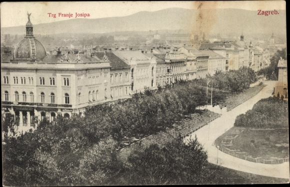 Ak Zagreb Kroatien, Trg Franje Josipa