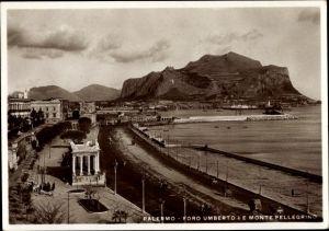 Ak Palermo Sicilia, Foro Umberto I e Monte Pellegrino