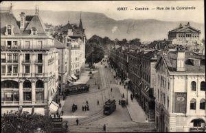 Ak Genève Genf Stadt, Rue de la Corraterie