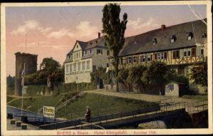 Ak Rhens im Rhein Hunsrück Kreis, Hotel Königstuhl