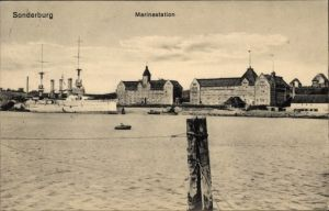 Ak Sønderborg Sonderburg Dänemark, Marinestation