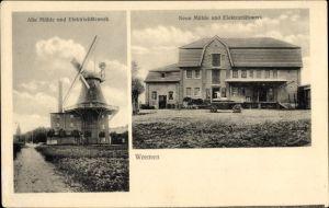 Ak Wremen Wurster Nordseeküste, Windmühle, Mühle, Elektrizitätswerk