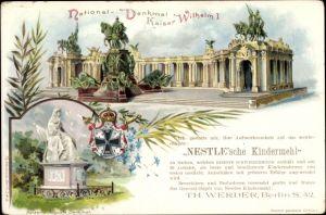 Ganzsachen Litho Berlin, Nationaldenkmal Kaiser Wilhelm I.