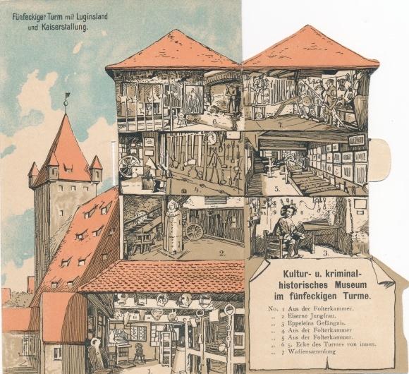 Klapp Ak Nürnberg, Fünfeckiger Turm, Luginsland, Stall