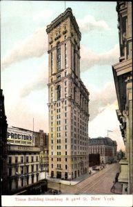 Ak New York City USA, Times Building Broadway & 42nd Street, Proctor's Reklame