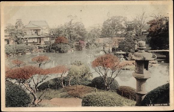 Ak Tokio Präf. Tokio Japan, Gartenpartie