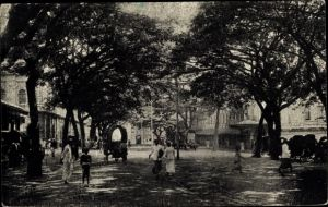 Ak Colombo Ceylon Sri Lanka, York Street, looking towards the Jetty
