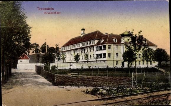 Ak Traunstein in Oberbayern, Krankenhaus