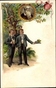 Präge Litho Turnvater Jahn, Turner