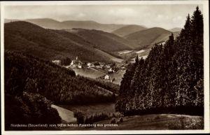 Ak Nordenau Schmallenberg im Sauerland, Blick vom hohen Astenberg