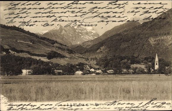 Ak Bex Kt. Waadt Schweiz, Les Diablerets, Kirche