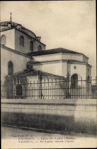 Ak Thessaloniki Griechenland, Église Sainte Sophie, Abside
