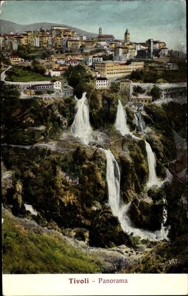 Ak Tivoli Lazio, Panorama, Wasserfälle