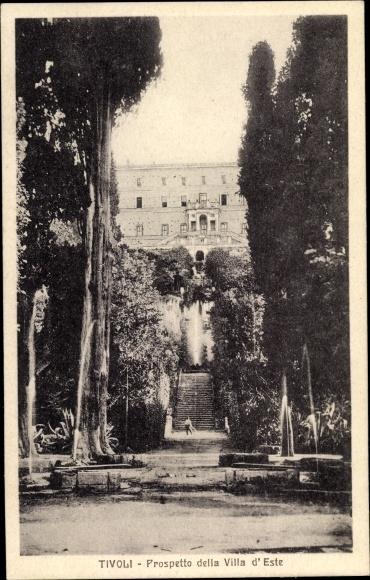 Ak Tivoli Lazio, Prospetto della Villa d'Este