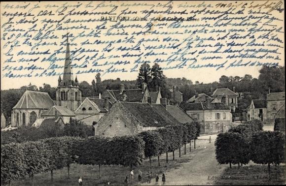 Ak Rantigny Oise, Kirche, Teilansicht der Stadt