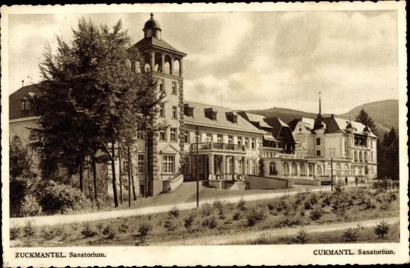 Ak Zlaté Hory Zuckmantel Reg. Olmütz, Sanatorium