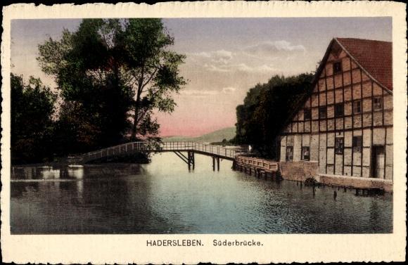 Ak Haderslev Hadersleben Dänemark, Süderbrücke