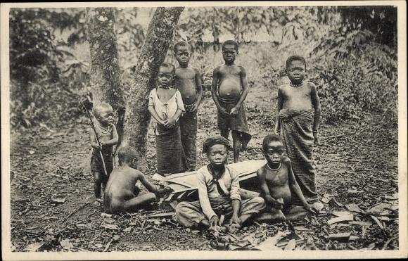 Ak Buea Kamerun, Spielende Baquieri Kinder