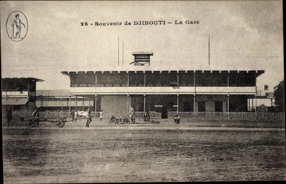 Ak Djibouti Dschibuti, La Gare, Bahnhof