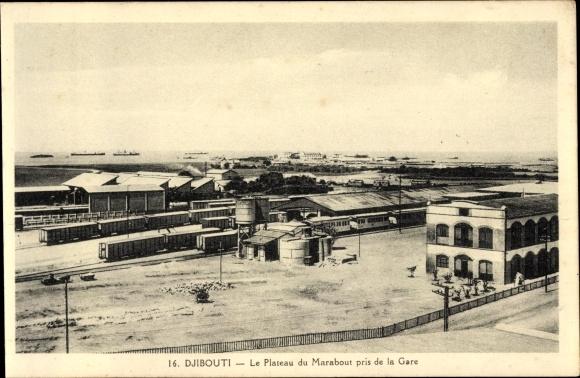 Ak Djibouti Dschibuti, Le Plateau du Marabout pris de la Gare