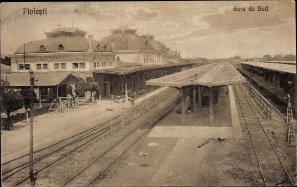Ak Ploești Ploiești Rumänien, Gara de Sud, Südbahnhof