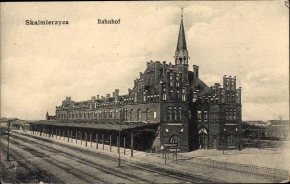Ak Nowe Skalmierzyce Neu Skalmierschütz Poznań Posen, Bahnhof