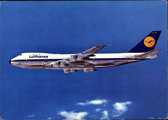 Ak Boeing Jet 747, Lufthansa, Passagierflugzeug