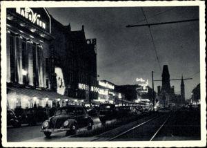 Ak Berlin Charlottenburg, Kurfürstendamm bei Nacht, Haus Wien, Hotel am Zoo, Gedächtniskirche