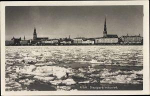 Ak Riga Lettland, Daugava ledusiet, Petrikirche